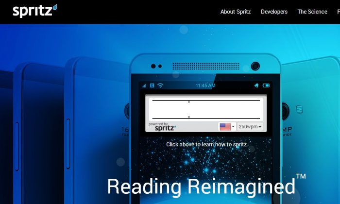 Spritz, a new app for Samsung devices, claims it can help one read 1,000 words per minute.