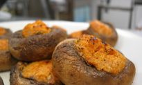 Recipe for Baked Mushrooms with Zucchini Stuffing