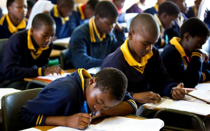 A file photo of orphan students at Nazarene Mission School in Piggs Peak, Swaziland, on July 29, 2008. Times of Swaziland explores the nation's prospects of becoming a first world nation. (Shutterstock*)
