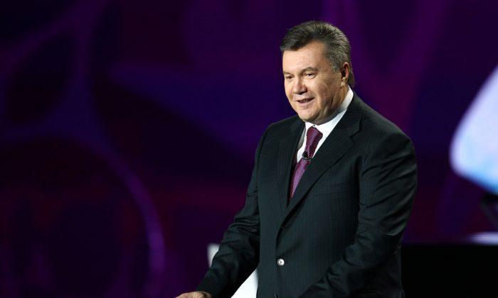 Viktor Yanukovych, Ukraine president speaks before the UEFA EURO 2012 Final Draw Ceremony on December 2, 2011 in Kiev, Ukraine. (Julian Finney/Getty Images)