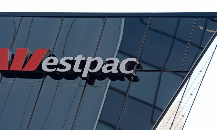 Westpac Bank signage is shown on a building in central Sydney on May 3, 2013. (AFP/Getty Images)