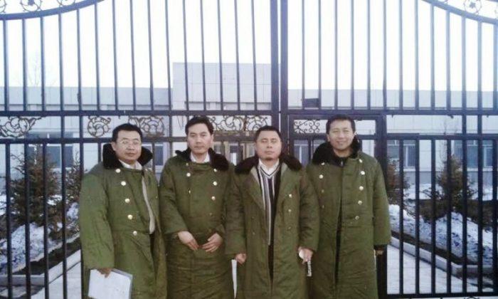 Mainland human rights lawyers (L–R) Jiang Tianyong, Tang Jitian, Wang Cheng, and Zhang Junjie, before being arrested. (Courtesy of the subjects)