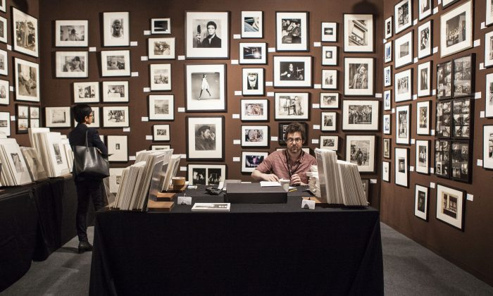 The booth of Winter Works on Paper, at the AIPAD photography show April 9, 2014, New York. (Samira Bouaou/Epoch Times)
