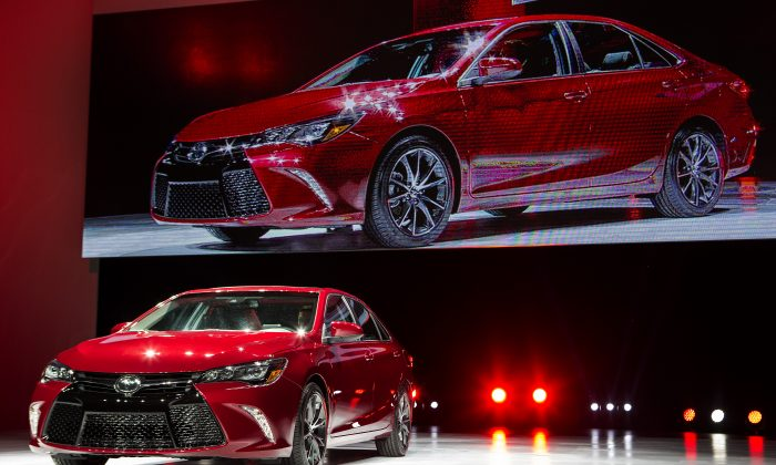 The new 2015 Camry is unveiled during a media preview of the 2014 New York International Auto Show April 16, 2014 in New York City. (Eric Thayer/Getty Images)