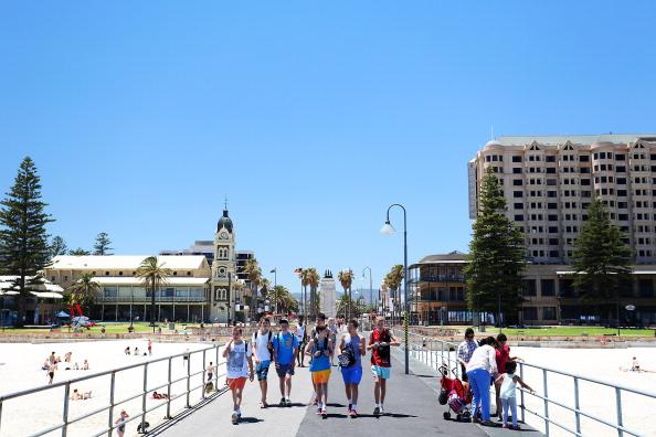 The Glenelg jetty on Jan. 13, 2014 in Adelaide, Australia.  (Daniel Kalisz/Getty Images)
