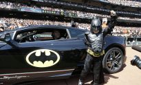 BatKid Throws Out First Pitch at Giants Home Opener