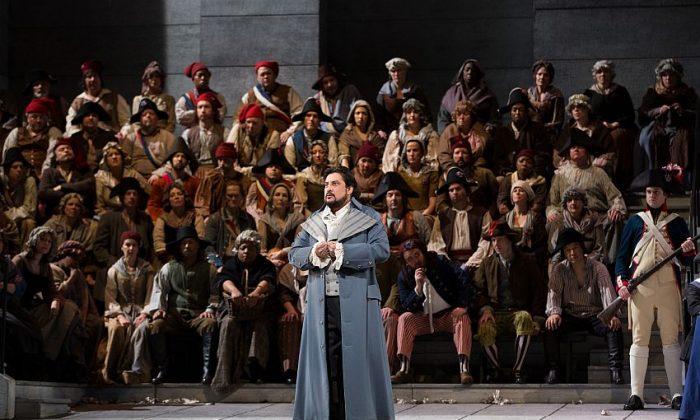 Marcelo Álvarez as Andrea Chénier in an opera set during the French Revolution. (Marty Sohl/Metropolitan Opera)