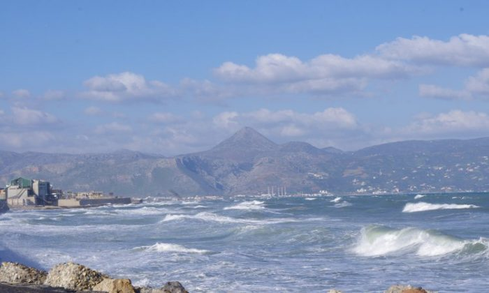 The seashore and White Mountains as seen from Heraklion's Venetian Fortress. (Courtesy of Phil Butler)