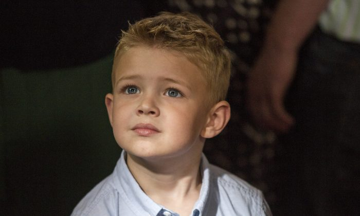 Connor Corum plays 4-year-old Colton Burpo, an Iowan boy who saw heavenly scenes while in surgery. (Sony Pictures)
