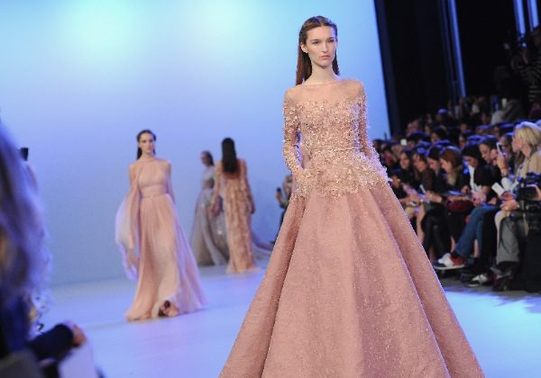 A model walks the runway during the Elie Saab show as part of Paris Fashion Week Haute Couture Spring/Summer 2014 on January 22, 2014 in Paris, France. (Pascal Le Segretain/Getty Images)
