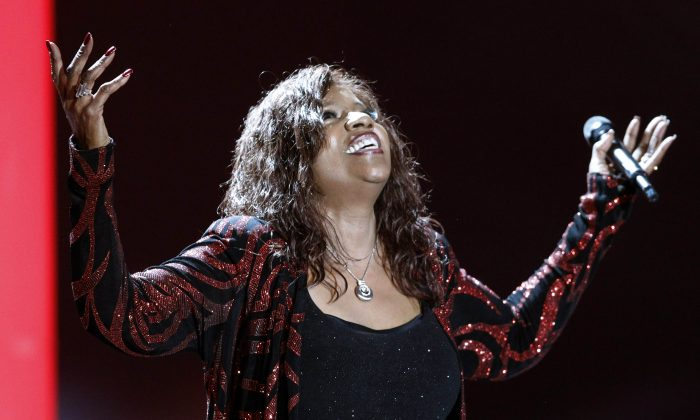 Gloria Gaynor performs after receiving the lifetime achievement award for music at the 2011 Goldene Kamera Awards at Berlin's Axel Springer Verlag publishing house on February 5, 2010. (Tobias Schwarz/AFP/Getty Images)