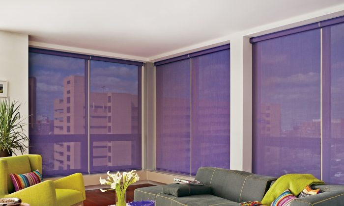 Updating your window coverings is a quick and easy way to add colour to your home. (Hunter Douglas)