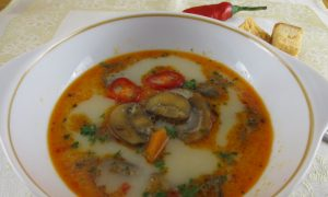 Mushroom Soup With Garlic and Cream