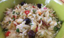 Orzo Caprese Salad