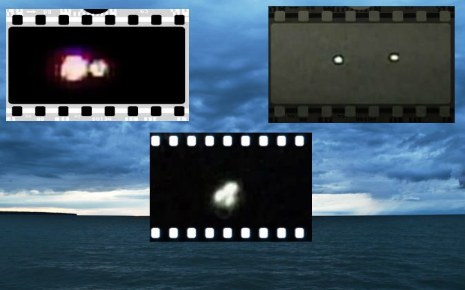 Lake Erie (wigglesms via Compfight); Lights filmed above Lake Erie by Michael Lee Hill, as shown in a History Channel special.