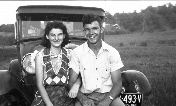 Kenneth and Helen Felumlee pose for a photo in September 1941. (AP Photo/Felumlee family)