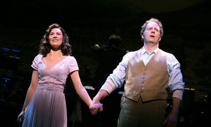"""Laura Benanti and Shuler Hensley as they appear in """"The Most Happy Fella"""" about a May–December romance. (Joan Marcus)"""