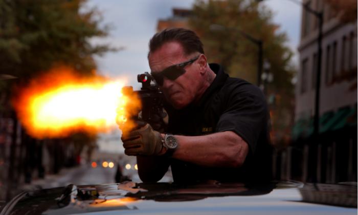 """Arnold Schwarzenegger in """"Sabotage."""" (Open Road Films)"""