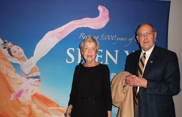 Patrick and Grace Ryan at Shen Yun Performing Arts  at the Civic Center Music Hall, on March 25, 2014. (Epoch Times)