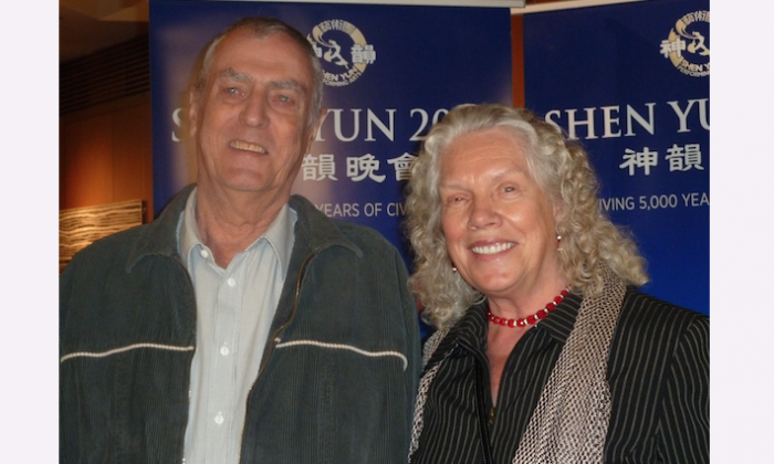 Marco and Jannie van Leeuwen attend Shen Yun Performing Arts at at the Adelaide Festival Centre on April 19. (Courtesy of NTD Television)