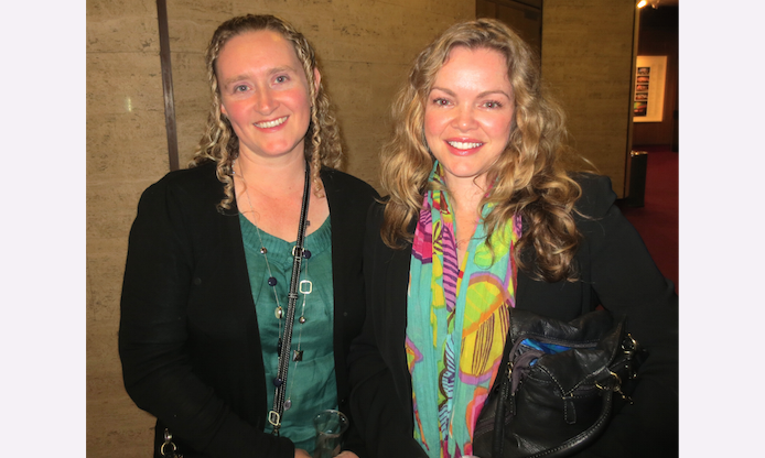 "Cathy Hochwald and Bec Watt at Shen Yun in Adelaide. ""The music was very beautifully done and well-presented"" said Bec Watt (R) after attending Shen Yun at Adelaide's Festival Theatre, on April 19. (Epoch Times)"