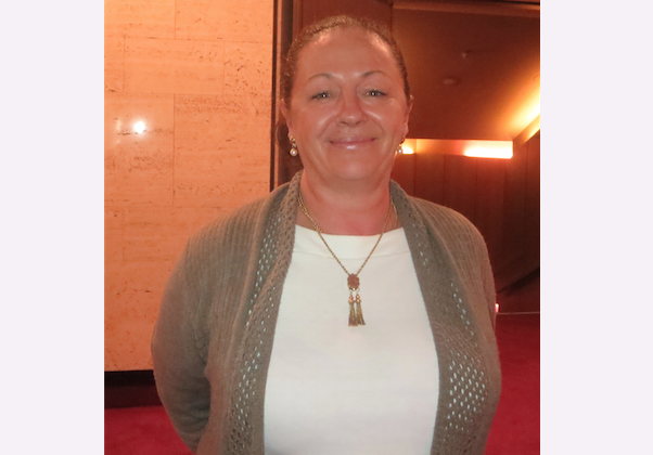 Ms. Rowena Brown, curator of Glenelg Art Gallery, saw Shen Yun Performing Arts on Saturday evening, April 21. (Leigh Smith/Epoch Times)