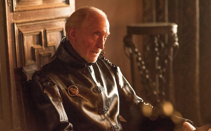 "Tywin Lannister (Charles Dance) in a scene from ""Game of Thrones."" The fourth season premieres Sunday at 9p.m. EST on HBO. (AP Photo/HBO, Helen Sloan)"