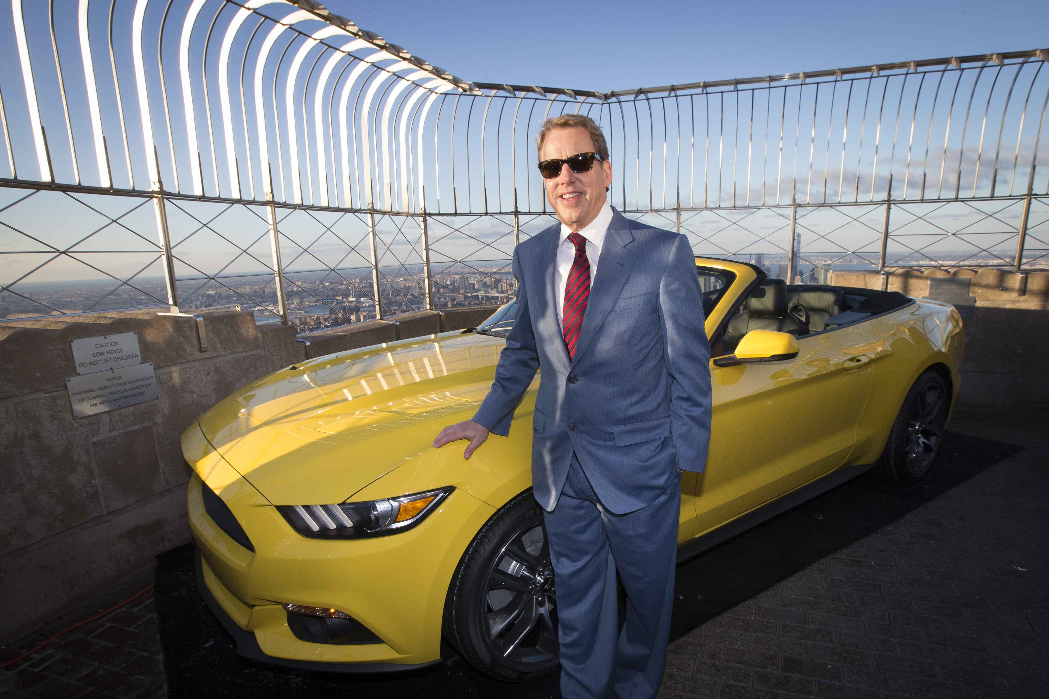 Bill Ford with 2015 Ford Mustang
