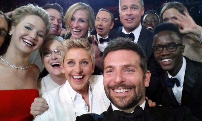 This star-studded photo taken at the Oscars by Ellen DeGeneres sparked an ongoing protest by Inuit against the celebrity after she gave money raised from the image to Humane Society International, which fights seal hunting. The group says it doesn't oppose Inuit subsistence sealing. (The Canadian Press/AP/Ellen DeGeneres)