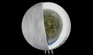There's a Large Ocean Inside Saturn's Icy Moon