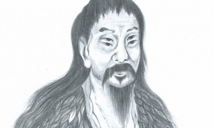 Legendary historian Cang Jie, the creator of Chinese characters, is described in ancient writings as having four eyes, giving him remarkable vision. (Yeuan Fang/Epoch Times)