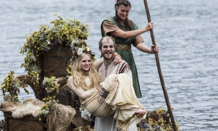 """Floki and Helga in a video still from History's """"Vikings"""" episode. (Photo credit: Jonathan Hession)"""