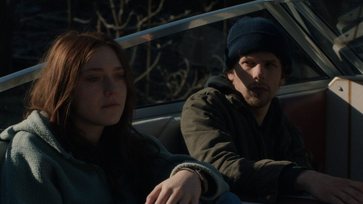 man and woman in a truck in Night Moves