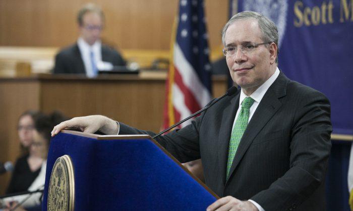 Comptroller Scott Stringer in Queens, New York on May 20, 2014. (Samira Bouaou/Epoch Times)
