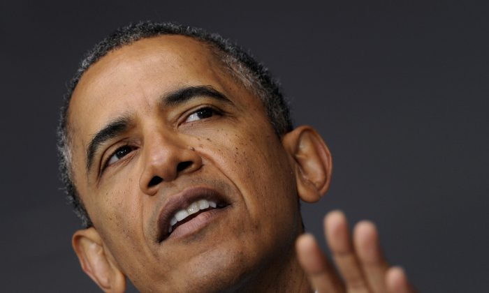President Barack Obama speaks at the commencement address to the U.S. Military Academy at West Point's Class of 2014, in West Point, N.Y., Wednesday, May 28, 2014. (AP Photo/Susan Walsh)