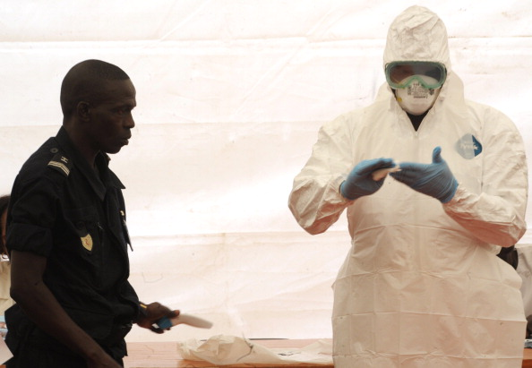 Authorities are rapidly trying to stop the spread of Ebola.(Seyllou/AFP/Getty Images)