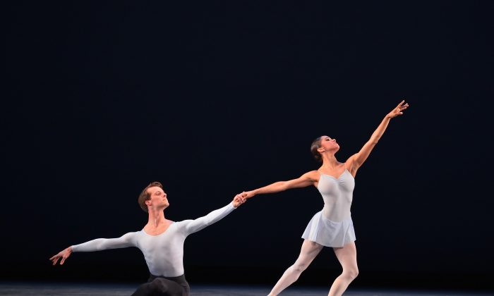 """Misty Copeland and Eric Tamm dance in """"Duo Concertant."""" (Gene Schiavone)"""