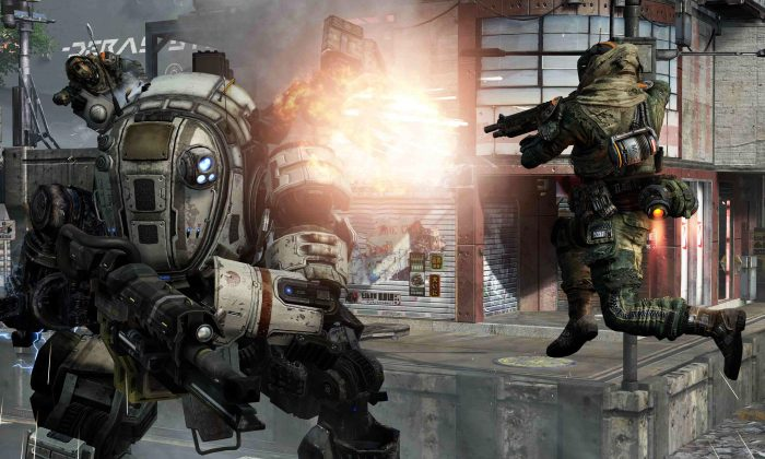 "FILE -- This file photo provided by Electronic Arts/Respawn Entertainment shows a scene from the video game, ""Titanfall."" (AP Photo/Electronic Arts/Respawn Entertainment, file)"
