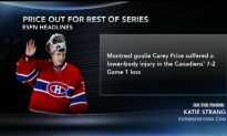 Canadiens Lose Price For Rest Of Series