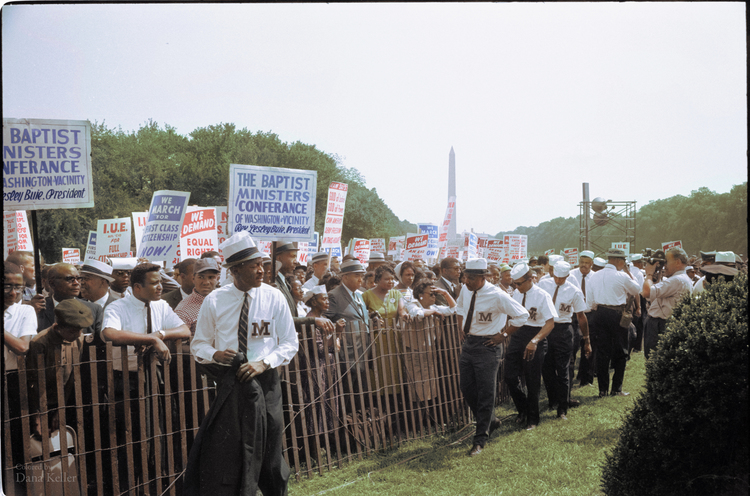 Civil Rights March on Washington, 1963, colorized by Dana Keller