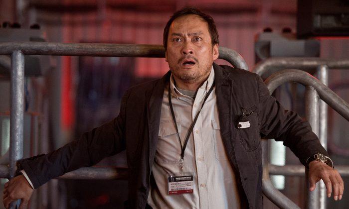 Ken Watanabe exudes terror as Dr. Ishiro Serizawa. (Warner Bros.)