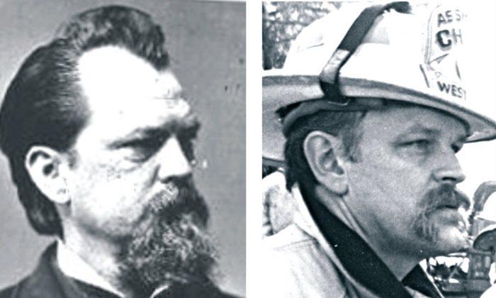 Civil War General John B. Gordon (L) and Jeff Keene (R). (Courtesy of www.IISIS.net)