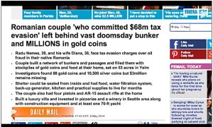 Wanted Romanian Couple Caches Millions in Coins Near Doomsday Bunker