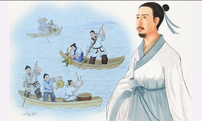 Qu Yuan was a wise, kind, and honest court minister who did much to eliminate the corruption rampant in the state of Chu during the Warring States period. (SM Yang/Epoch Times)