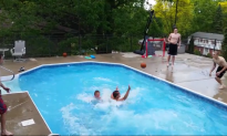 Basketball Players Impress With Amazing Choreographed Pool Dunk (Video)