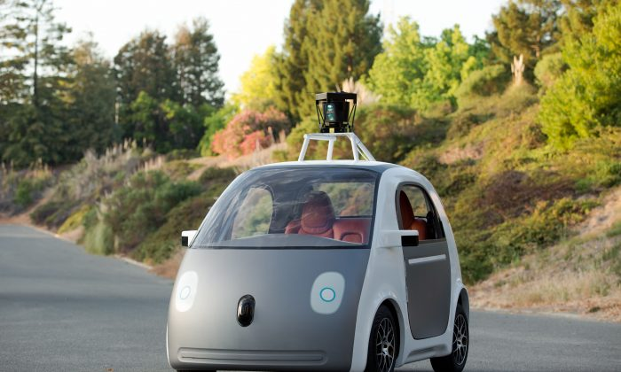 An early version of Google's driverless car—Google plans to put 100 on the streets within a year. (AP Photo/Google)