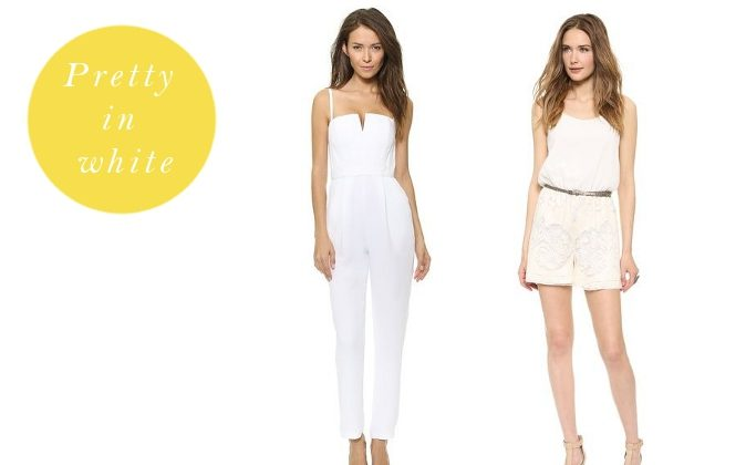 Have a look at our selection of white jumpsuits and rompers that keep you on trend this summer.