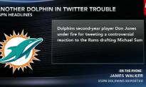 Dolphins' Jones Under Fire For Anti-Sam Tweet