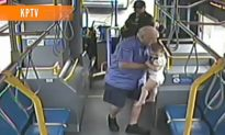Heroic Bus Driver Rescues Wandering Toddler (Video)
