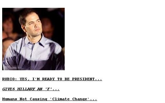 Drudge Report: Marco Rubio Ready to be President?